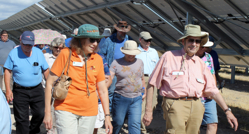 Valley Electric Ambassador Group Tours Community Solar Project